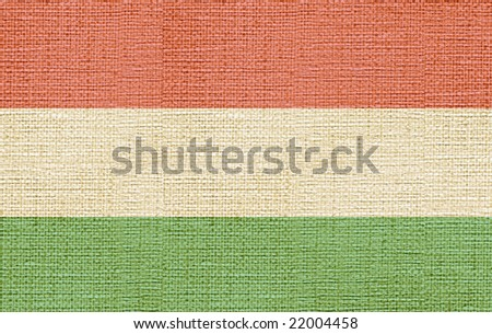 map of hungary canvas - stock photo