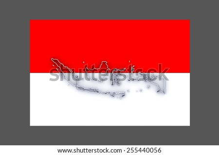 Map of Indonesia. 3d - stock photo