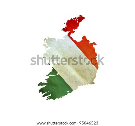 Map of Ireland isolated - stock photo