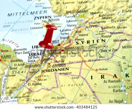 Map Israel Pin Set On Jerusalem Stock Photo Shutterstock - Jerusalem on world map