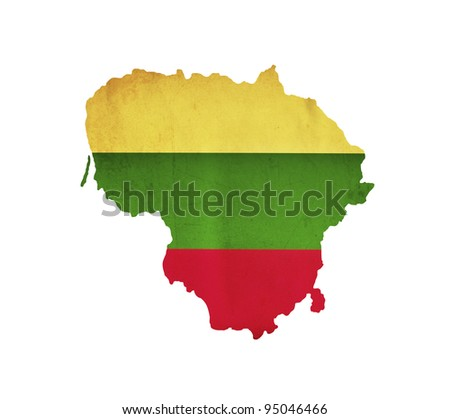 Map of Lithuania isolated - stock photo