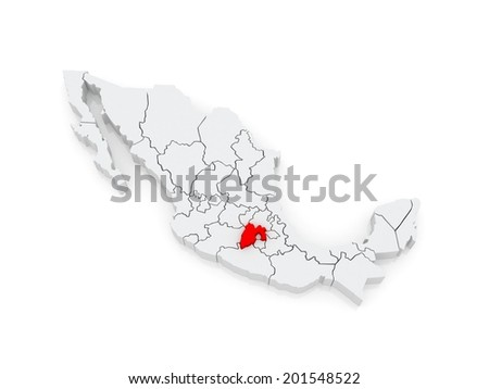 Map of Mexico City. Mexico. 3d - stock photo