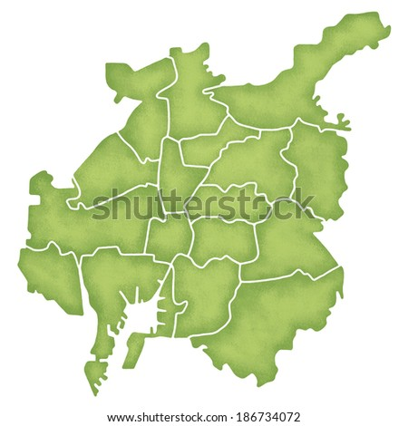 Map of Nagoya, Japan