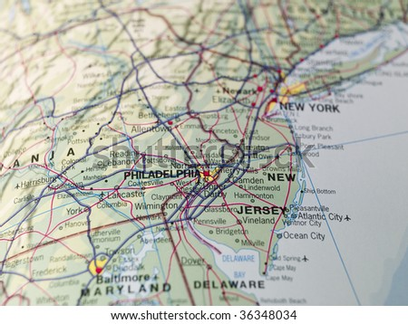 Map of New Jersey - stock photo