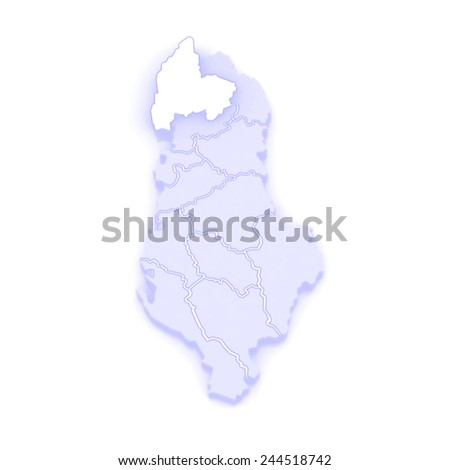 Map Shkoder Albania 3d Stock Illustration 244518742 Shutterstock