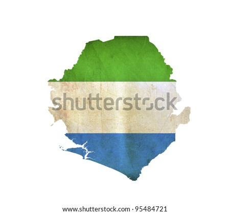 Map of Sierra Leone isolated - stock photo