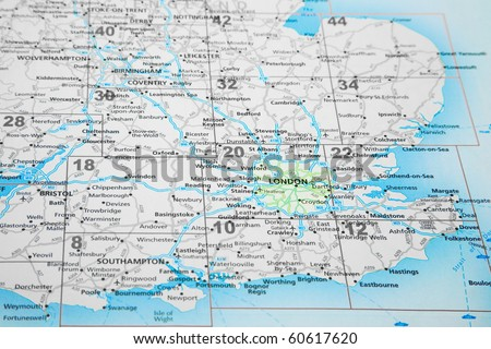 Map south east england london highlighted stock photo royalty free map of south east england with london highlighted gumiabroncs Gallery