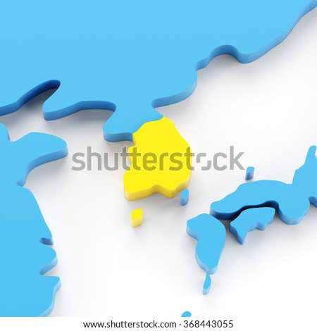 Map south korea highlighted yellow 3 d stock illustration 368443055 map of south korea highlighted in yellow 3d render white background gumiabroncs Choice Image