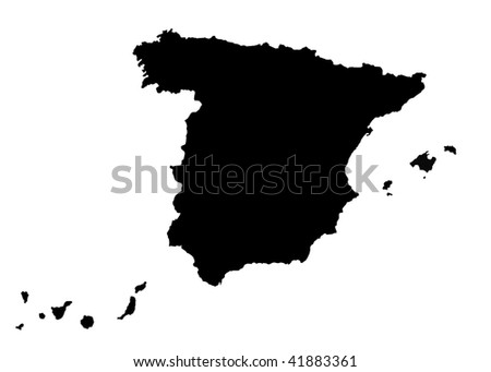 Map of Spain - stock photo