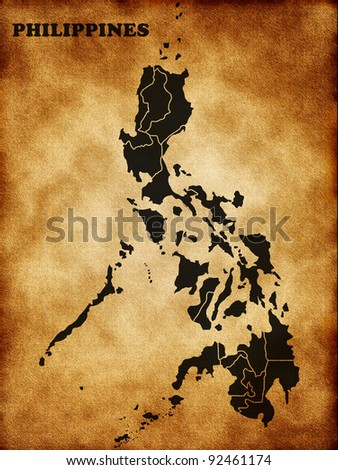 Map of the Philippines - stock photo