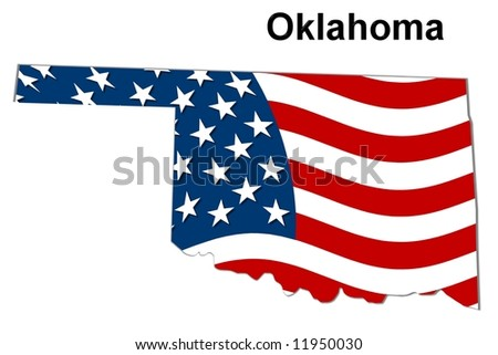 Map State Kansas American Flag Stock Illustration - Us flag map