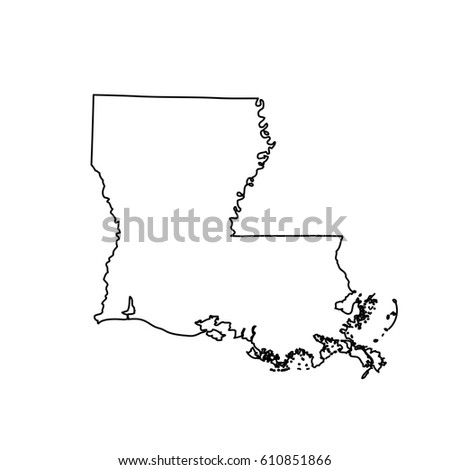 Map Of The U S State Louisiana