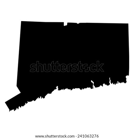 Map Us State Connecticut Stock Vector Shutterstock - Connecticut on us map