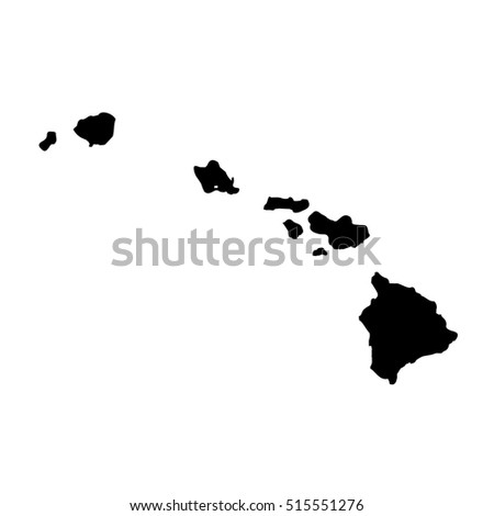 Map Of The U S State Of Hawaii On A White Background