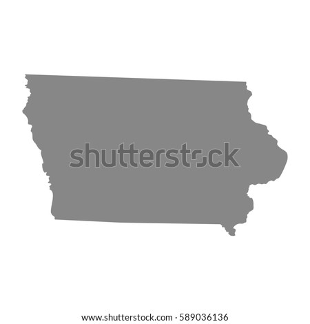 Map Of The U S State Of Iowa