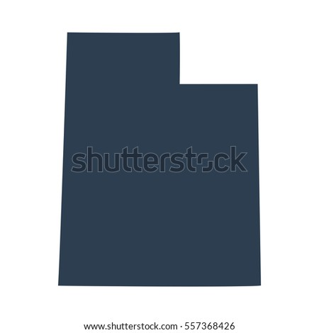 Map Us State Utah Stock Vector Shutterstock - Utah on us map