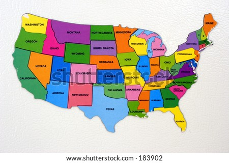 Map of the USA (exclusive at shutterstock) - stock photo
