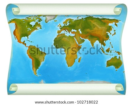 map of the world 1 - stock photo