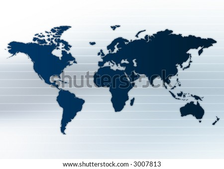 Map of the world. - stock photo