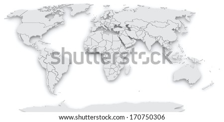 Map of the world. 3d - stock photo