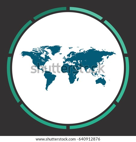 World map icon vector flat simple stock vector 599522441 map of the world flat simple blue pictogram in a circle illustration icon gumiabroncs Images