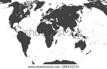 Map Of The World.  Illustration.  - stock photo
