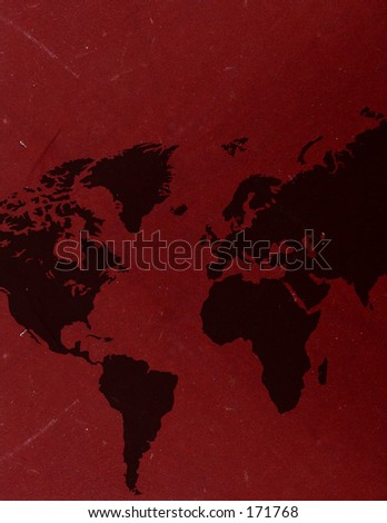 Map of the world with a worn out look - stock photo