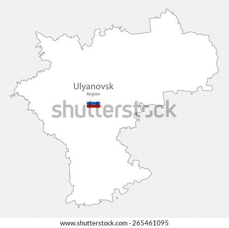 Map Ulyanovsk Region Russia Stock Illustration 265461095 Shutterstock