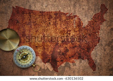 Map Dominican Republic National Flag Colors Stock Illustration - Old us map background