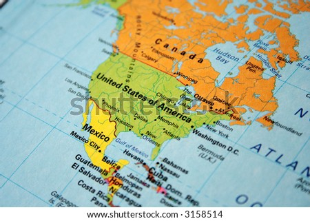 Map Usa Canada Stock Photo Shutterstock - Us map of canada