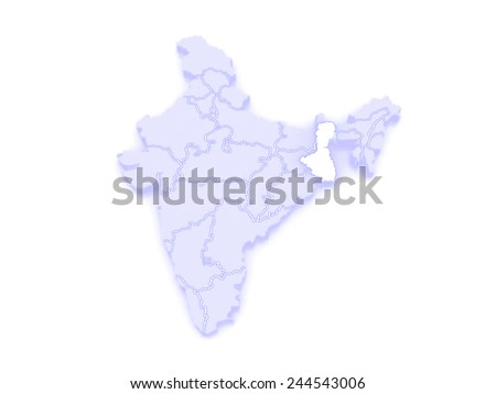 Bengal Map India Map of West Bengal India 3d