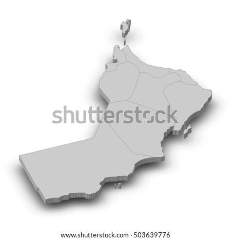 Oman Map Stock Images RoyaltyFree Images Vectors Shutterstock - Oman map png