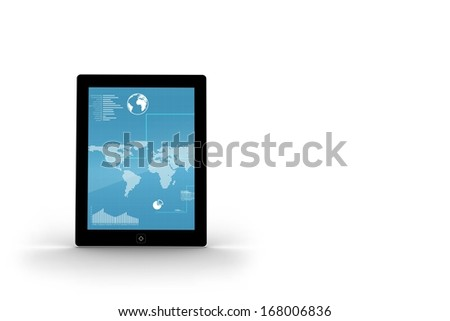 Map on tablet screen