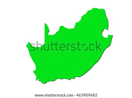 map-south Africa country on white background.