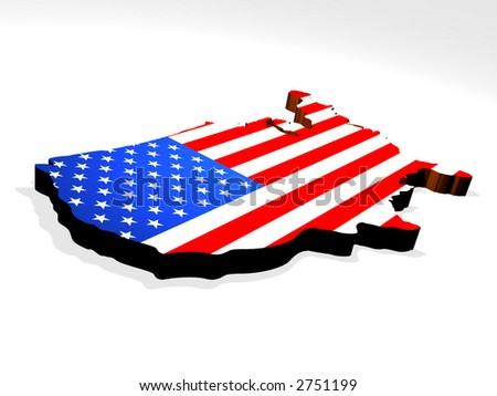 Map the USA - stock photo