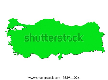 map-turkey country on white background.