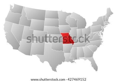 Missouri State Stock Images RoyaltyFree Images Vectors - Us map missouri