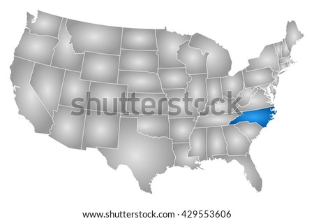 Nc Map Stock Images RoyaltyFree Images Vectors Shutterstock - North carolina on a us map