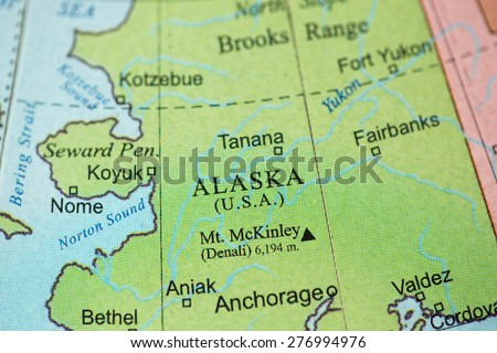 Alaska Map Stock Images RoyaltyFree Images Vectors Shutterstock - Mt mckinley on us map