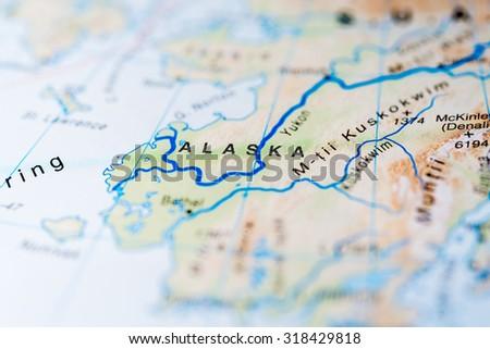 Map View Alaska State United States Stock Photo 318429818