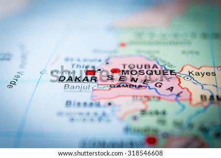 Map View Dakar Senegal Vignette Stock Photo 318546608 Shutterstock