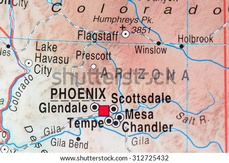 Map view of Phoenix