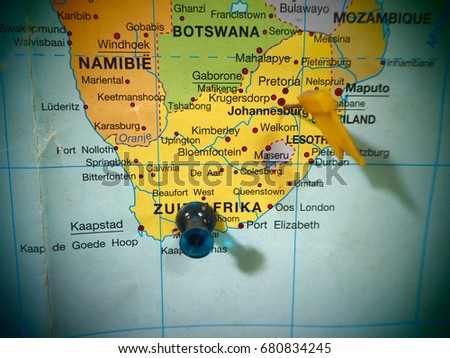 Map View South Africa Countries On Stock Photo (Edit Now) 680834245 ...