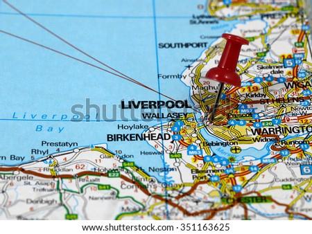 Map Pin Point Liverpool England Stock Photo (Royalty Free) 351163625 ...
