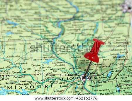 Missouri Map Stock Images RoyaltyFree Images Vectors - Missouri in usa map