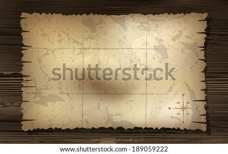 map with rose of wind background. - stock photo
