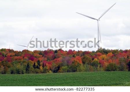 Maple Ridge Wind Farm in upstate NY - stock photo