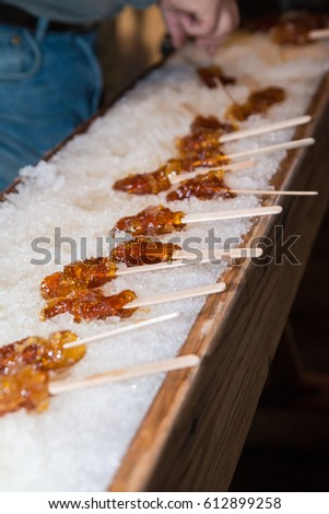 recipe: maple taffy without snow [34]