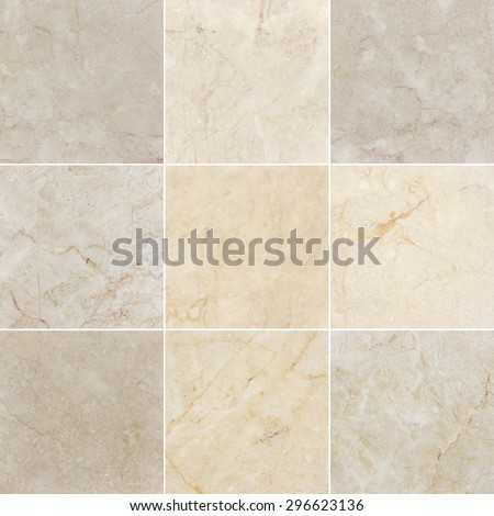 Marble backgrounds, textures with natural pattern. Every image 4 MP, 2000 x 2000. - stock photo