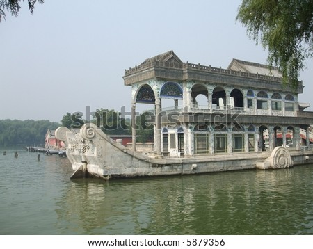 Marble boat in Summer Palace, Beijing China